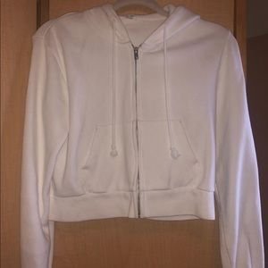 john galt white zip-up